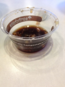 Compostable soy sauce cups!